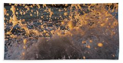 Sunset Splash Hand Towel by Alpha Wanderlust