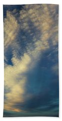 Hand Towel featuring the photograph Sunset Stack by Karen Slagle