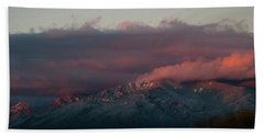 Sunset Storm On The Sangre De Cristos Hand Towel