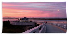 Sunset Stroll On The Bridge Hand Towel