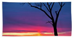 Sunset Sundog  Hand Towel by Ricky L Jones