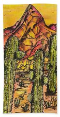 Desert Sunset Sunrise  Bath Towel