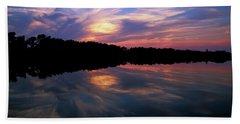 Bath Towel featuring the photograph Sunset Swirl by Steve Stuller