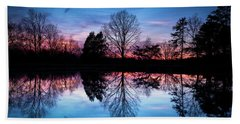 Sunset Symmetry Bath Towel