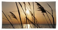 Sunset Through The Dune Grass Hand Towel