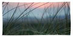 Sunset  Through The Marsh Grass Hand Towel by Spikey Mouse Photography