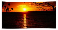 Sunset Through The Trees Bath Towel by Mike Murdock
