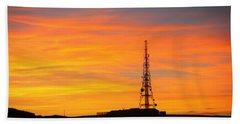 Sunset Tower Bath Towel by RKAB Works