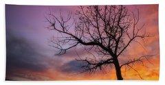 Sunset Tree Hand Towel by Darren White