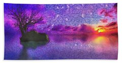 Sunset Tribute To Van Gogh Bath Towel