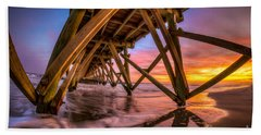 Sunset Under The Pier Bath Towel