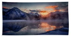 Sunset, Vermilion Lakes Bath Towel