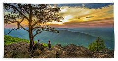 Sunset View At Ravens Roost Hand Towel