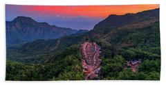 Hand Towel featuring the photograph Sunset View Of Bena Tribal Village - Flores, Indonesia by Pradeep Raja PRINTS