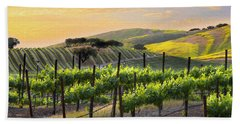 Sunset Vineyard Hand Towel