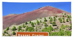 Sunset Crater Volcano Bath Towel