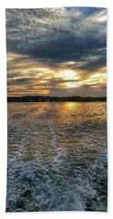 Bath Towel featuring the photograph Sunset Waters by Nikki McInnes