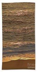 Sunset Waves Over Carmel Beach Hand Towel