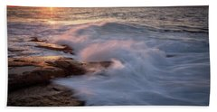 Sunset Waves Rockport Ma. Bath Towel
