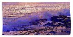 Sunset, West Oahu Bath Towel by Susan Lafleur