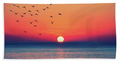 Sunset Wishes Hand Towel