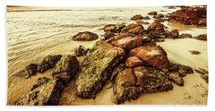 Sunsets And Sea Stones Bath Towel