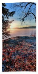 Sunsets Creates Magic Bath Towel by Rose-Marie Karlsen