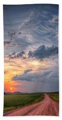 Sunshine And Storm Clouds Bath Towel