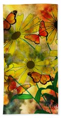 Sunshine Daisies Bath Towel by Maria Urso