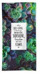 Sunshine, Freedom, Flower Hand Towel by Atelier Seneca