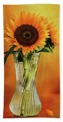 Sunshine In A Vase Hand Towel by Diane Schuster