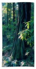 Sunshine In The Forest Bath Towel