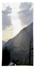 Sunshine On The Village Hand Towel by Sumit Mehndiratta