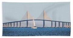 Sunshine Skyway Bridge #2 Hand Towel