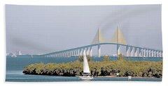 Sunshine Skyway Bridge Hand Towel