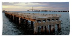 Sunshine Skyway, Old And New Bath Towel