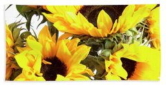 Sunshine Sunflowers Bath Towel