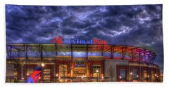 Suntrust Park Unfinished Atlanta Braves Baseball Art Hand Towel