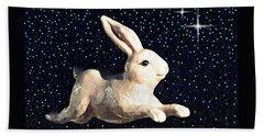 Super Bunny Hand Towel by Sarah Loft