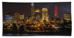 Super Moon 2016 Over Cleveland Hand Towel