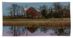Super Moon And Barn Series #1 Bath Towel