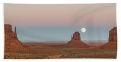 Super Moon In Monument Valley Bath Towel
