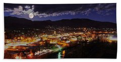 Super-moon Over Steamboat Bath Towel