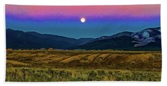 Super Moon Over Taos Bath Towel