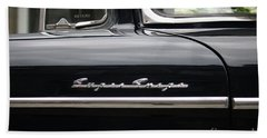 Bath Towel featuring the photograph Super Snipe Car by Mary-Lee Sanders