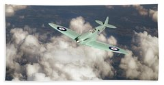 Hand Towel featuring the photograph Supermarine Spitfire Prototype K5054 by Gary Eason