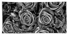 Supermarket Roses Bath Towel