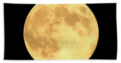 Supermoon Full Moon Hand Towel by Kyle West