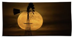 Supermoon Rise 4  11-14-2016 Bath Towel