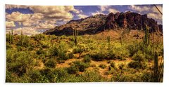 Superstition Mountain And Wilderness Bath Towel